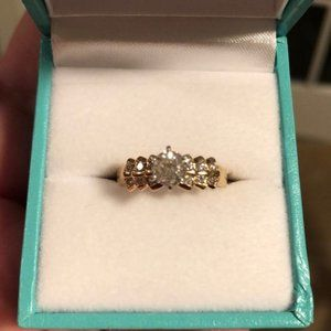 Diamond and 14kt Gold Engagement Ring